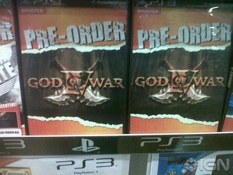 Esta es la carátula de reserva del God of War 4 en una tienda BT Games de Johannesburgo, como publica IGN en su web