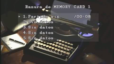 En Resident Evil 1, las pocas máquinas de escribir que había en toda la mansión servían para guardar las partidas
