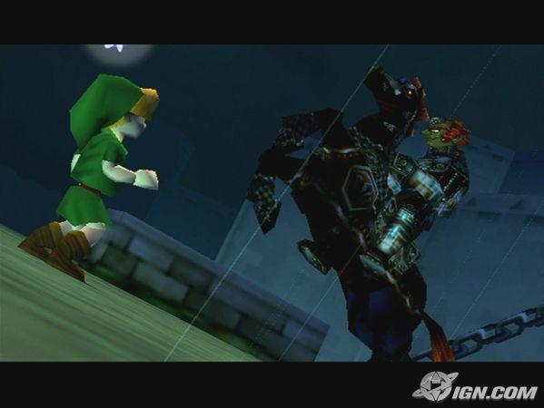 El primer encuentro entre Link y el malvado Ganon