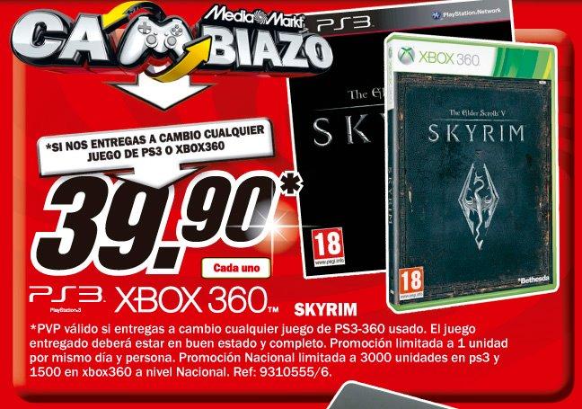 Skyrim también fue el objetivo de la campaña promocional de 'El Cambiazo', de Mediamarkt