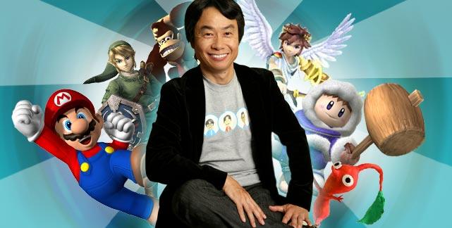 Super Mario, Link (Zelda), Donkey Kong, Icarus, Ice Climbers, Pikmin, todos son creadores de Miyamoto