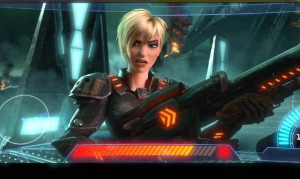 Esta fémina guerrera que aparece en el tráiler de Rompe Ralph podría guardar un simil con KillZone y Gears Of Wars