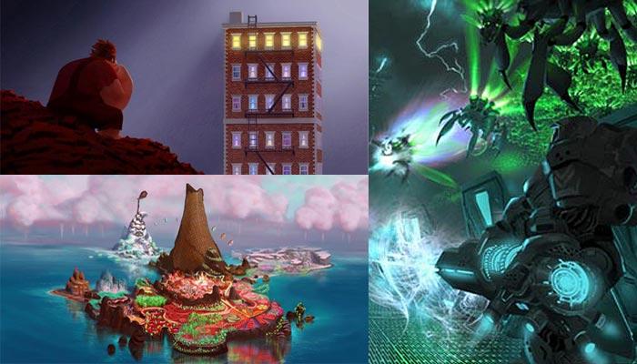 Los paisajes de Rompe Ralph también pertenecen al mundo de los videojuegos