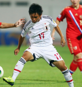 Kosei Uryu, autor del golazo que le da la victoria a Japón ante Rusia (Foto: FIFA.com)
