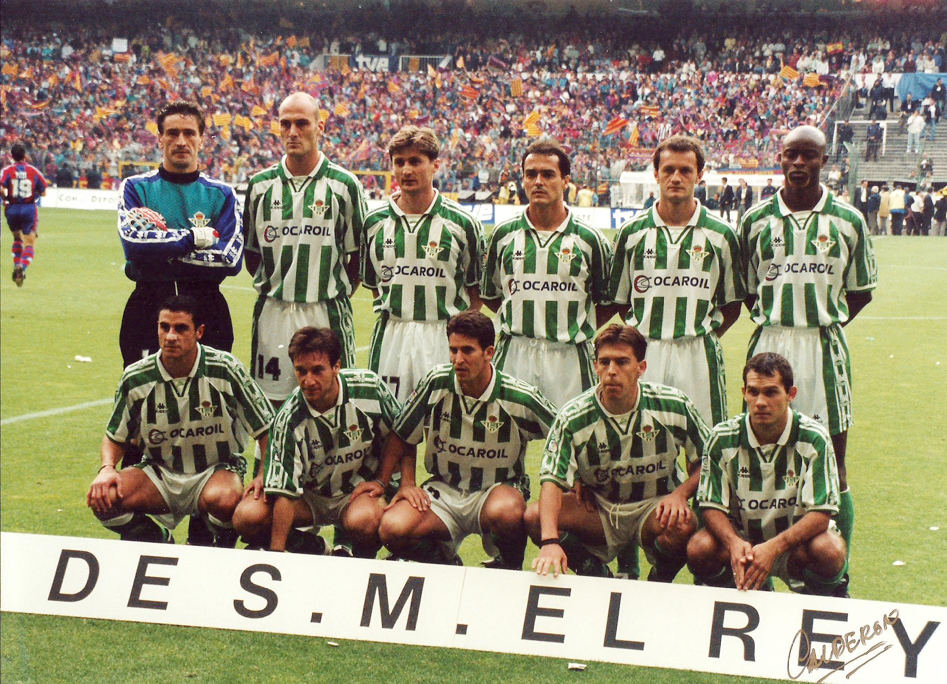 Historia del Real Betis Alineación Barcelona-Betis Copa 1997 | Historia del  Real Betis