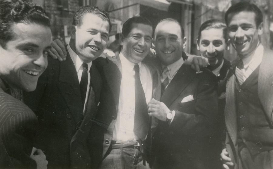 Jugadores béticos en Madrid 1944