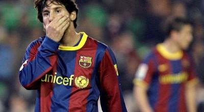 Messi, cariacontecido.