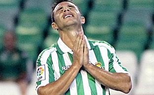 Rubén Castro ha contado con varias ocasiones aunque el gol se resiste en el Betis
